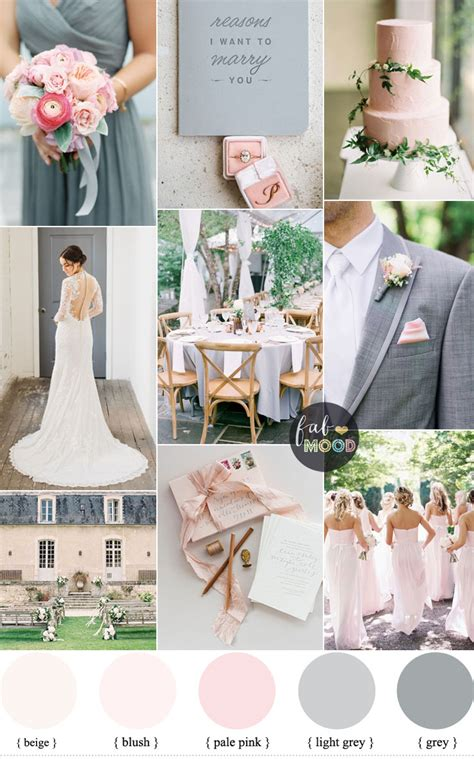 elegant blush and soft gray wedding palette a perfect