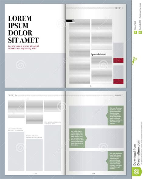magazine layout design template modern design magazine stock illustration image 59047317