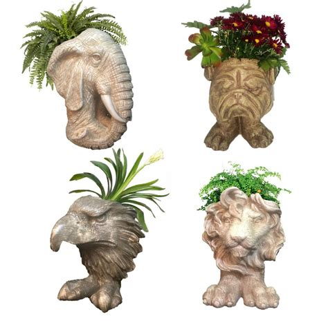 Planters Mascot by Homestyles Muggly Mascot Small Animal Statue Planters