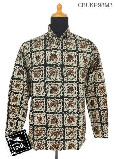 Baju Batik Batik Ayusari Kemeja Batik Panjang Sogan 1 kemeja batik panjang motif sogan batangan kemeja lengan