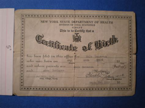 Ny Birth Records Birth Certificate Template New York Images Certificate