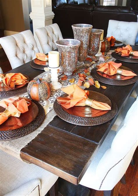 Dining Table Settings Decorations by Best 25 Fall Dining Table Ideas On Rustic