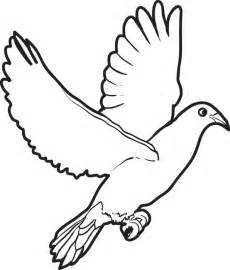 printable coloring page of a dove gallery