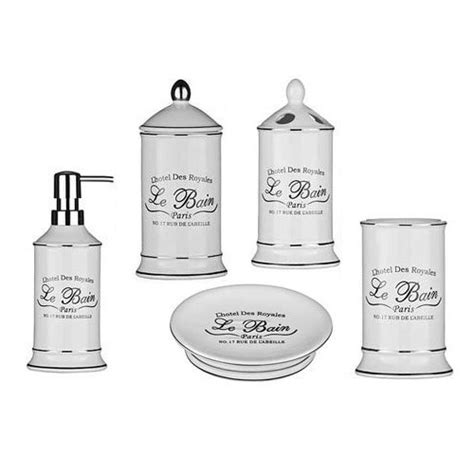 le bain bathroom accessories uk 5 piece le bain white ceramic bathroom set at victorian
