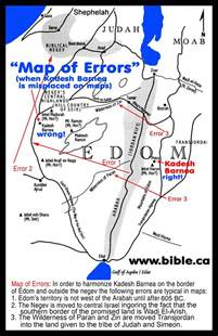 the historical transjordan territory of the edomites in