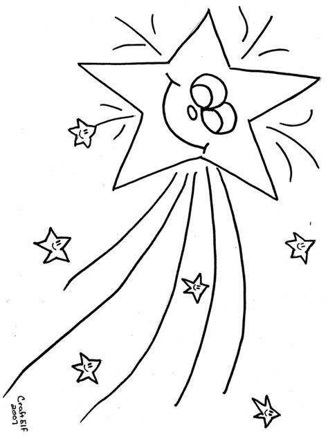 a4 star colouring pages