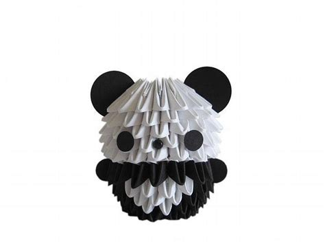 How To Make A 3d Origami Panda - 3d origami mini panda by espressions on zibbet