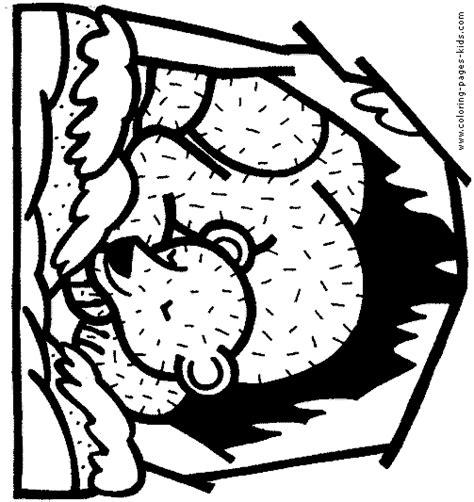 bear den coloring page hibernating bear color page free printable coloring