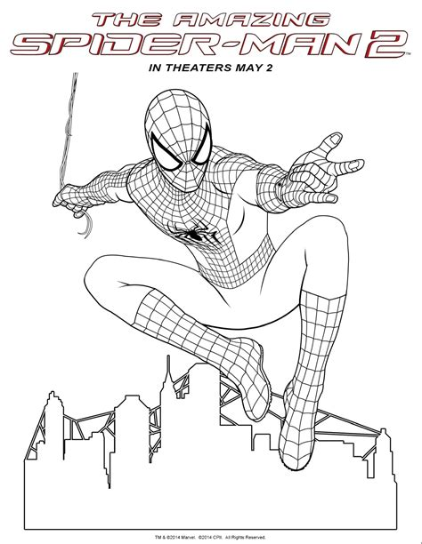 free coloring pages of spiderman logo