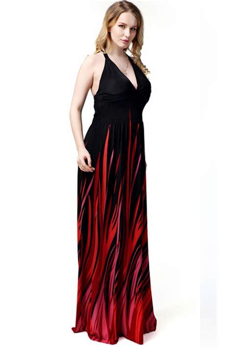V Neck Printed Dress kettymore plus size v neck gown printed dress