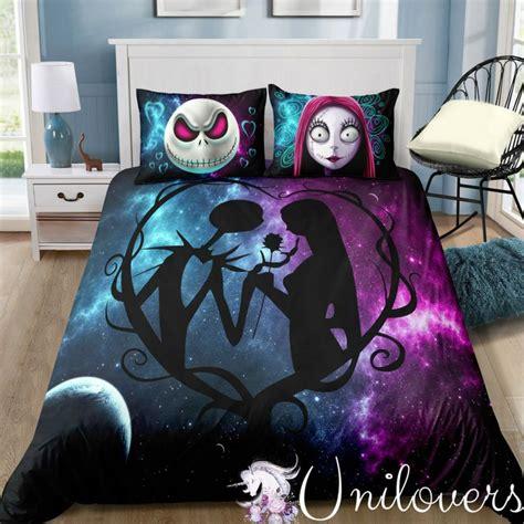 galaxy  halloween love bedding set   jack