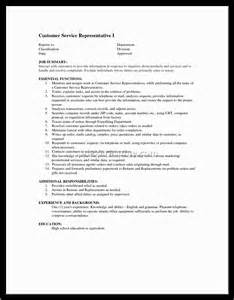 Resume Templates For Customer Service Representatives by Sle Resume For Customer Service Representative