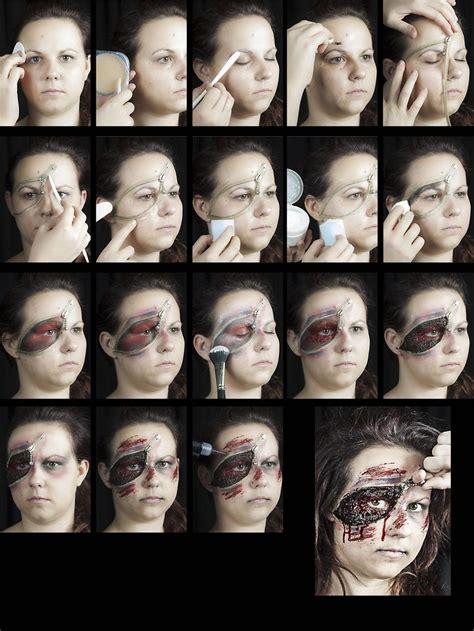 halloween schminke set zipper face zombie reissverschluss