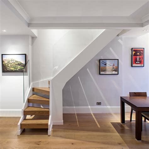 L Shaped Stairs Design Interior Inspiring L Shaped Staircase Design For Space Saver With Brown Steps Combine With