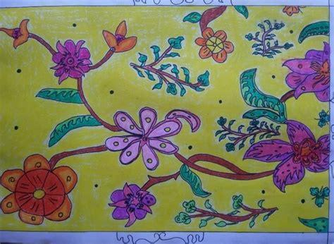 25 contoh gambar ragam hias flora dan fauna yang mudah digambar