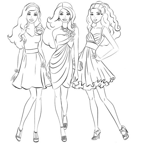 barbie coloring pages bestofcoloring com