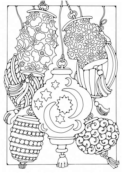 underwater themed coloring pages coloriage lanternes img 19594