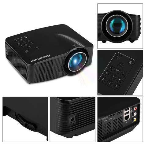 Proyektor Android hd wifi android led projector portable mini pc home