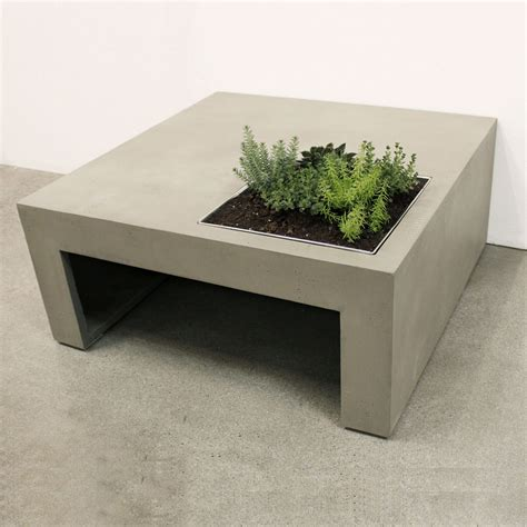 Planter Box Table by Concrete Coffee Table With Built In Planter Box So That S Cool