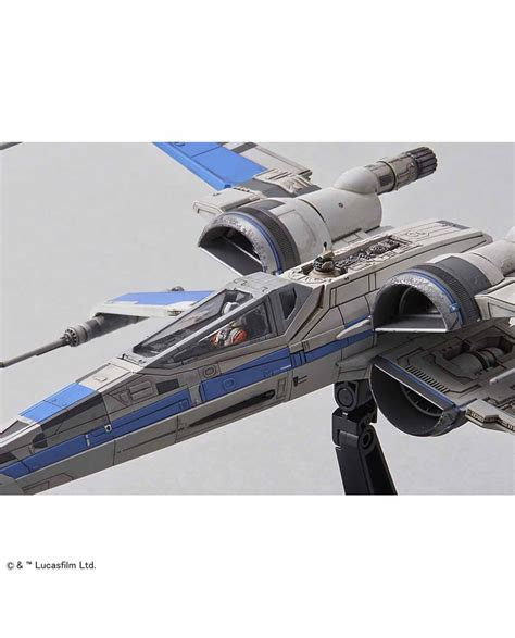 1 72 X Wing Resistance Blue Squadron wars the last jedi blue squadron x wing starfighter 1 72 scale model kit ban223296