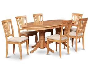 details about 7pc oval dinette kitchen dining room set table with 6 upholstery chairs in oak