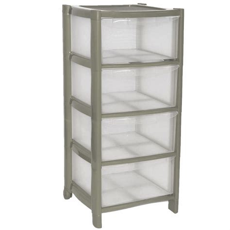 Silver Drawer by Silver Drawer Plastic Large Tower Storage Drawers Unit
