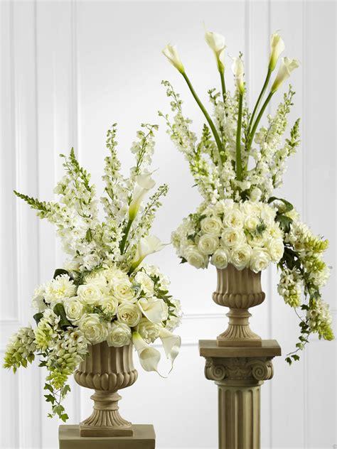 Flower Pedestal the flower garden classic white pedestal arrangement the