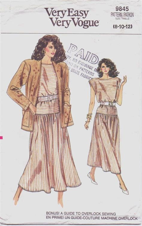 vogue pattern ease 116 best 1980s sewing patterns images on pinterest 1980s