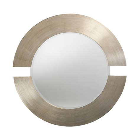round silver bevelled mirror shop dillon orbit silver leaf beveled wall mirror at lowes