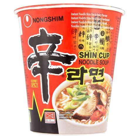 Nongshim Shinramyun Cup Noodle Soup nong shim instant shin cup noodle soup 75g groceries tesco groceries