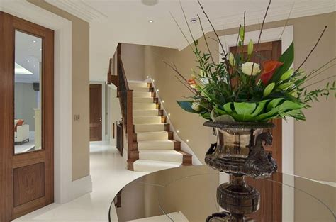 hallway stairs lighting contemporary house in ahmedabad entrance hall modern mansion in surrey by halo design