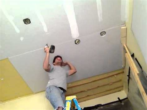 hanging drywall on a ceiling solo youtube