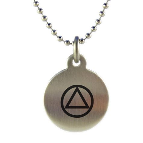 aa unity symbol medallion necklace
