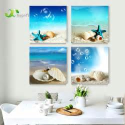 Home Design Sea Theme by Aliexpress Com Buy 4 Panel Modern Printed Blue Beach