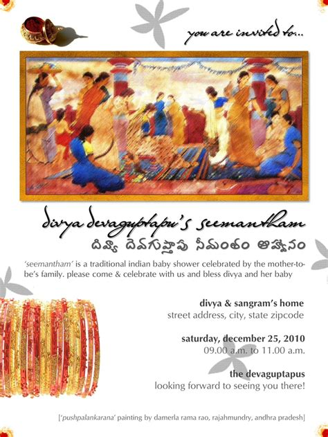 baby shower function invitation india seemantham traditional south indian hindu baby shower invite by ōviya design studio baby