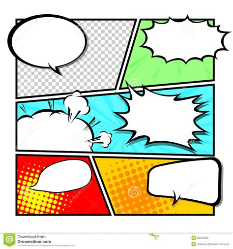 comic template vector stock vector illustration of