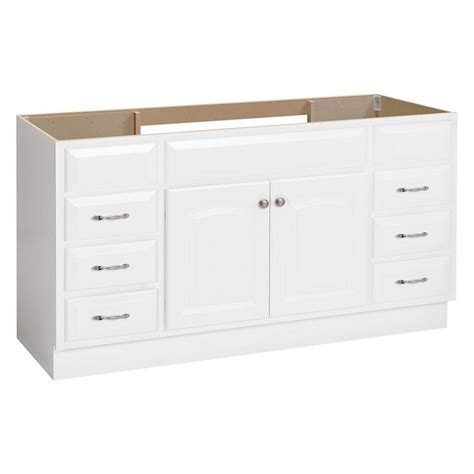 Shop Project Source White Bathroom Vanity (Common: 60 in x