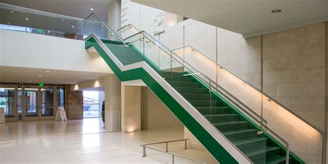 Stair Banister Rails Structural Glass Railings Stainless Steel Aluminum