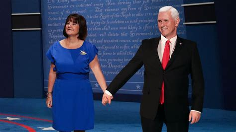mike pence wife mike pence brings wife up onstage to help demonstrate how