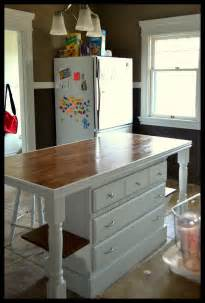 Kitchen Island Used so this custom kitchen island used to be an old dresser and this is