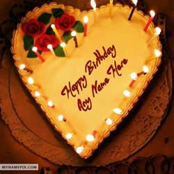 candles heart birthday cake_name_pix_18d0 birthday name cakes with candles on happy birthday cakes quotes