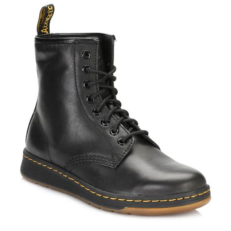 black casual boots dr martens unisex mid calf boots black newton 8 eye lace