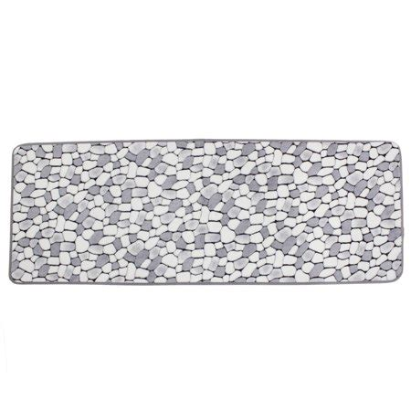 Gray Doormat by White Gray Cobblestone Patetrn Kitchen Antislip Doormat