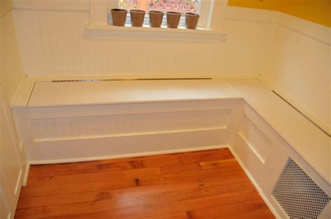 Diy Kitchen Bench With Storage by Diy Custom Kitchen Nook Storage Benches