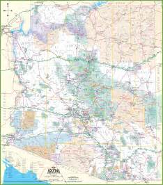 arizona towns map large detailed map of arizona with cities and towns