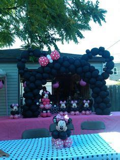 minnie mouse backyard party alaina s first birthday ideas never too early on