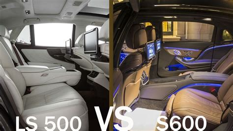 best for ls 2018 mercedes s600 vs lexus ls 500 luxurious interior