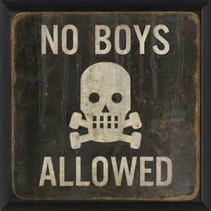 no boys allowed 17x17 print contemporary kids wall