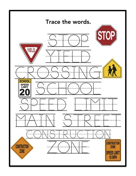 Sign Words preschool printables sign printable