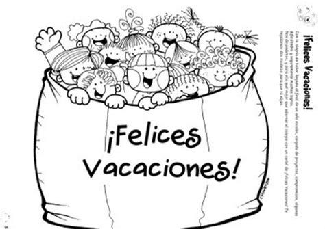 imagenes escolares de fin de curso carteles de felices vacaciones para colorear